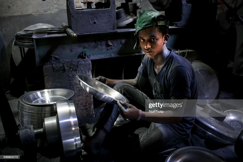 Aluminum Factory is very common in Bangladesh where different kinds of pot and jar made from aluminum. Such industry creates a sound source of employment. Among these workers many of them are children aged less than 15 years. There is no statistics available to determine exact ratio of adults and children; but it seems around 30-50% workers are children. The reason of high child labor ratio is cheap labor. According to child labor law of Bangladesh it is prohibited in serious working condition but there is no implication. The current economic condition of Bangladesh is unable to solve child labor problem. It's not possible to banned child labor completely at any time. The thing is these children's families are in need. They don't have any other options other than work for money and help their family. If government really going to banned child labor in the country, the situation would be worse than this. Their living of standards even go down more. So before banning child labor, government needs to develop economic condition of their family first.