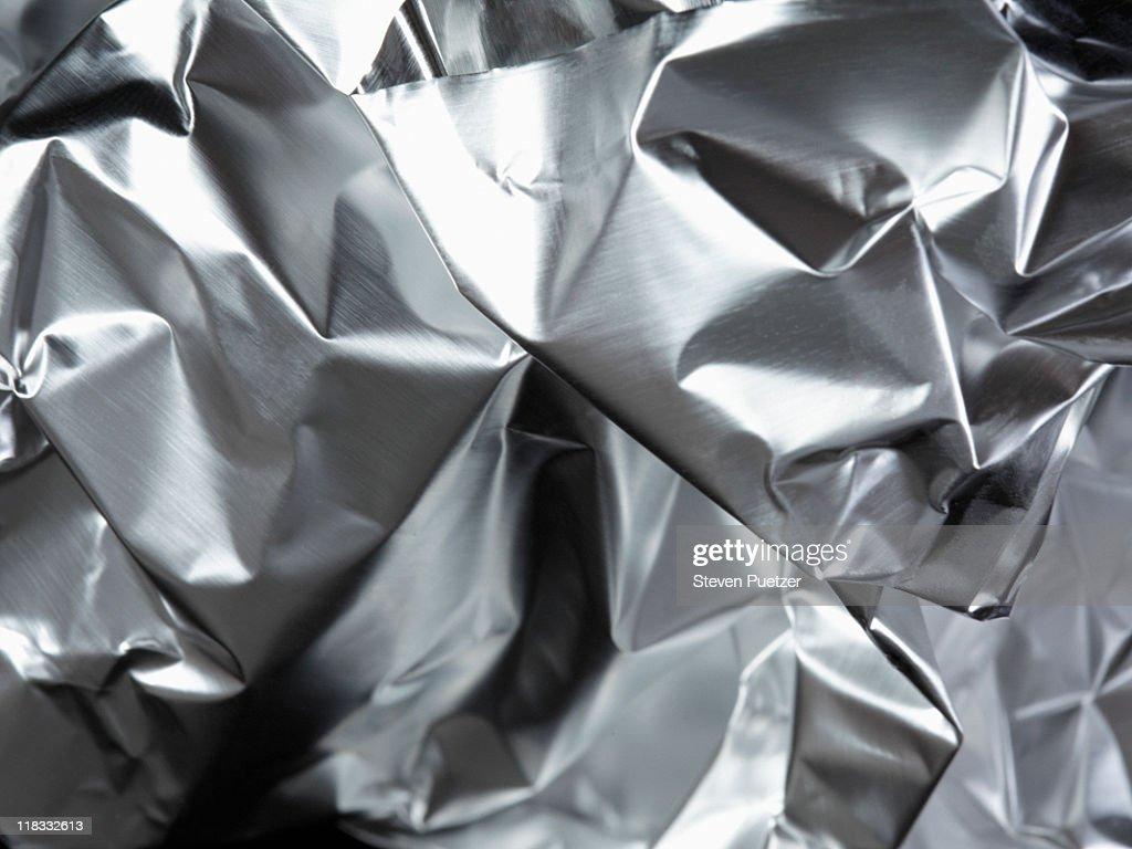 Aluminum foil, crumpled