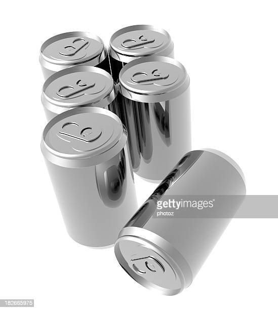 Aluminum six pack of cans