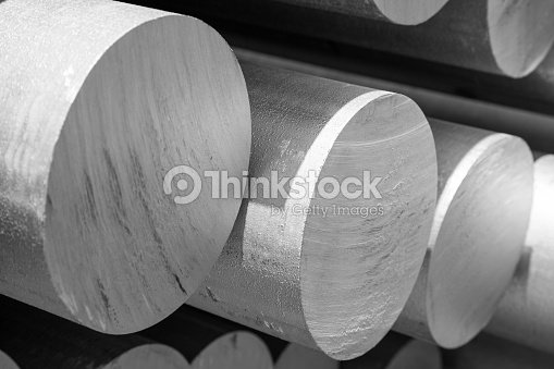 aluminum tubes as a raw material : Stock-Foto