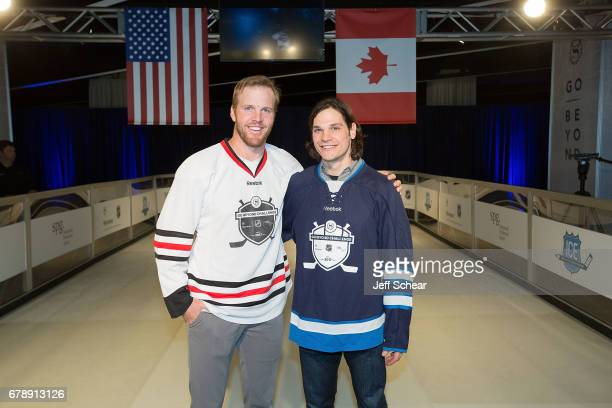 NHL Alumni Brian Bickell and NHL Alumni Daniel Carcillo attend Sheraton Hotels Resorts Host 'Go Beyond' Challenge With NHL Alumni For Local Youth...