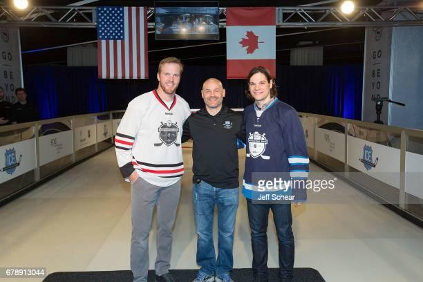 NHL Alumni Brian Bickell Brad Erickson and NHL Alumni Daniel Carcillo attend Sheraton Hotels Resorts Host 'Go Beyond' Challenge With NHL Alumni For...