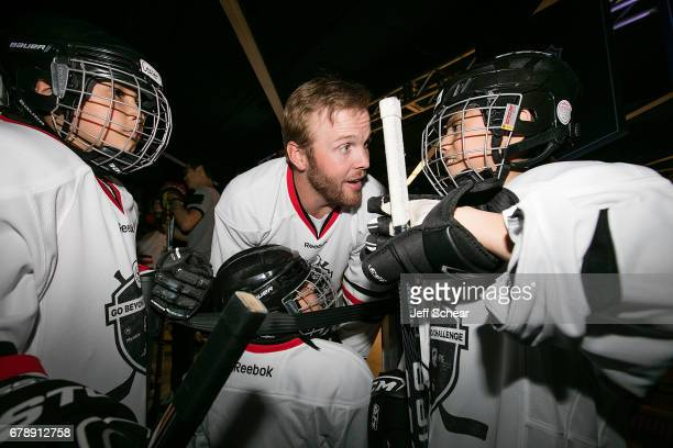 NHL Alumni Bryan Bickell attends Sheraton Hotels Resorts Host 'Go Beyond' Challenge With NHL Alumni For Local Youth Hockey Players At The Sheraton...