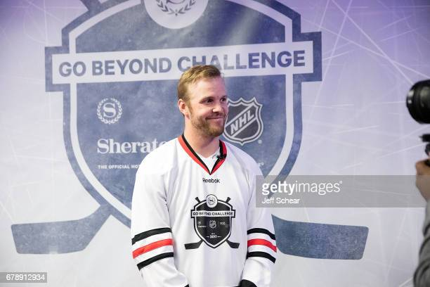 Alumni Bryan Bickell attends Sheraton Hotels Resorts Host 'Go Beyond' Challenge With NHL Alumni For Local Youth Hockey Players At The Sheraton Grand...