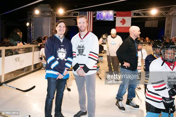 NHL Alumni Daniel Carcillo and NHL Alumni Brian Bickell attend Sheraton Hotels Resorts Host 'Go Beyond' Challenge With NHL Alumni For Local Youth...