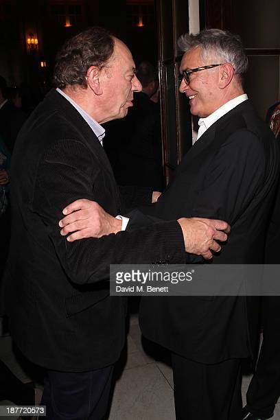 Alun Armstrong and Martin Shaw attend an after party following the press night performance of 'Twelve Angry Men' on November 11 2013 in London England