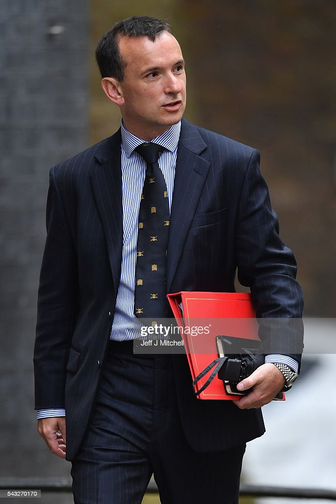 Alun Cairns, Secretary of State for Wales arrives for a cabinet meeting at Downing Street on June 27, 2016 in London, England. British Prime Minister David Cameron is due to chair an emergency Cabinet meeting this morning, after Britain voted to leave the European Union. Chancellor George Osborne spoke at a press conference ahead of the start of financial trading and outlining how the Government will 'protect the national interest' after the UK voted to leave the EU.