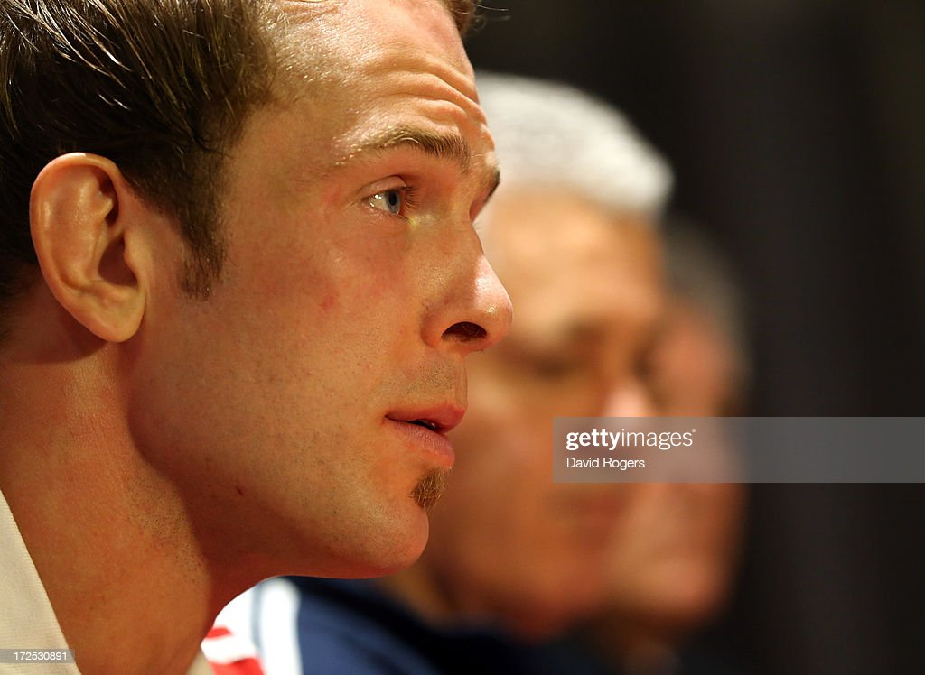 Alun Wyn Jones, who will captain the British and Irish Lions faces the media during the British and Irish Lions media session held on July 3, 2013 in Noosa, Queensland, Australia.