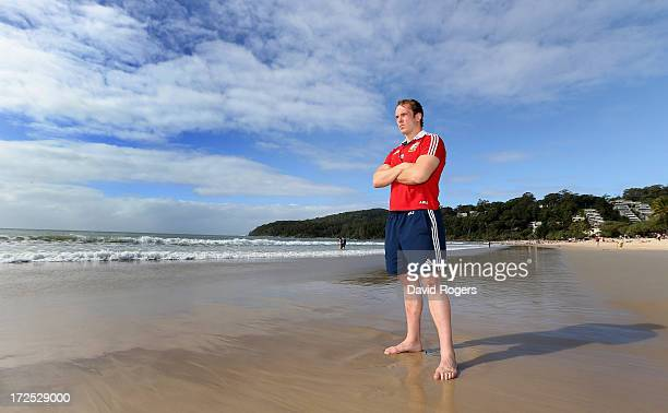 Alun Wyn Jones who will captain the Lions in the third and final test against the Wallabies poses on Noosa Beach on July 3 2013 in Noosa Australia