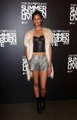 Aluna Francis attends Emporio Armani's Summer Garden Live 2013 on July 16 2013 in London England