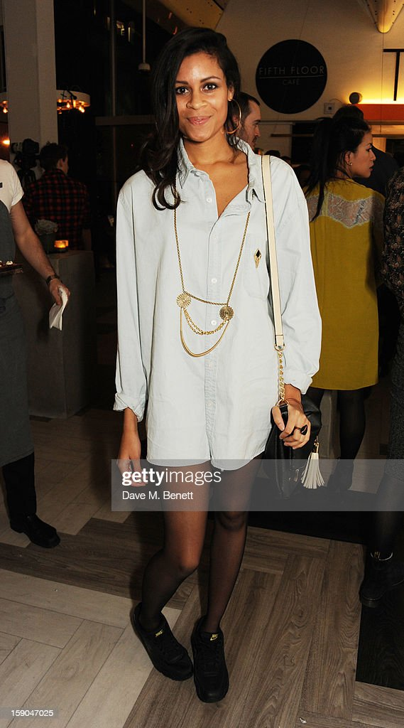 Aluna Francis attends the launch of 1205 Paula Gerbase hosted by Harvey Nichols on January 6, 2013 in London Engand.
