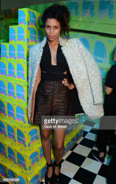 Aluna Francis attends the MAC x Dazed x Miles Aldridge party at White Rabbit on September 14 2014 in London England