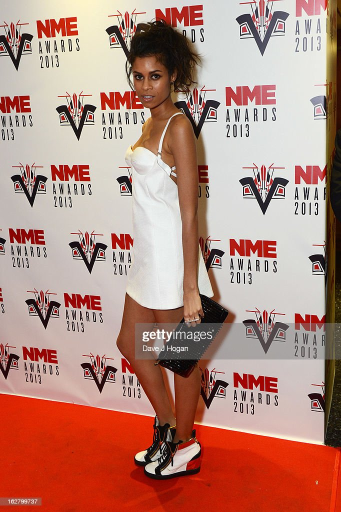 Aluna Francis of Aluna George attends the NME Awards 2013 at The Troxy on February 27, 2013 in London, England.