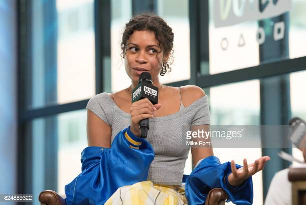 Aluna Francis of AlunaGeorge visits Build Studio to Discuss the singles 'Turn Up The Love' and 'Last Kiss' at Build Studio on July 31 2017 in New...