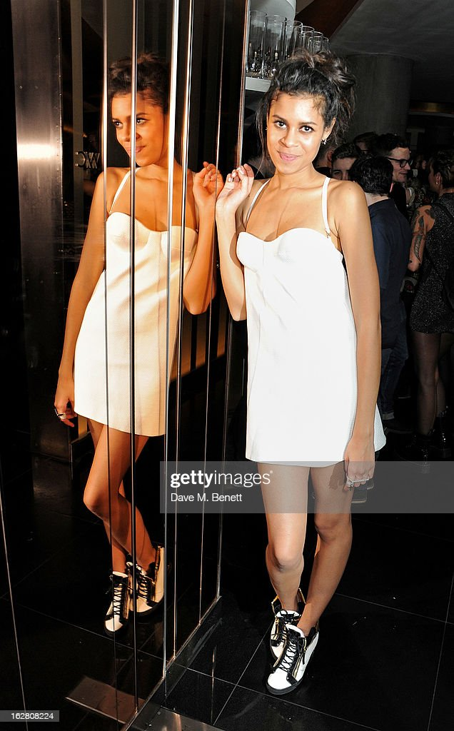 Aluna Francis parties in Wyld at W London Leicester Square after the NME Awards whilst drinking 'CIROC 'n' Roll' cocktails on February 27, 2013 in London, United Kingdom.