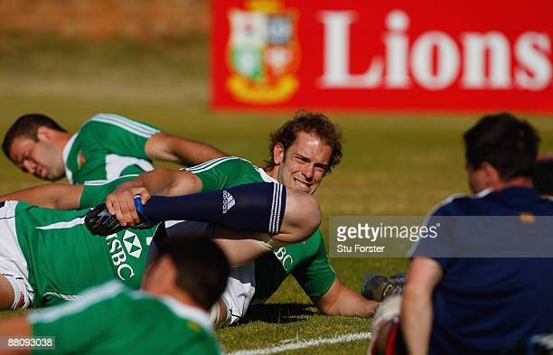 AlunWyn Jones warms up as the Lions prepare for Wednesdays tour match against Xerox Golden Lions at St David's school on June 1 2009 in Johannesburg...