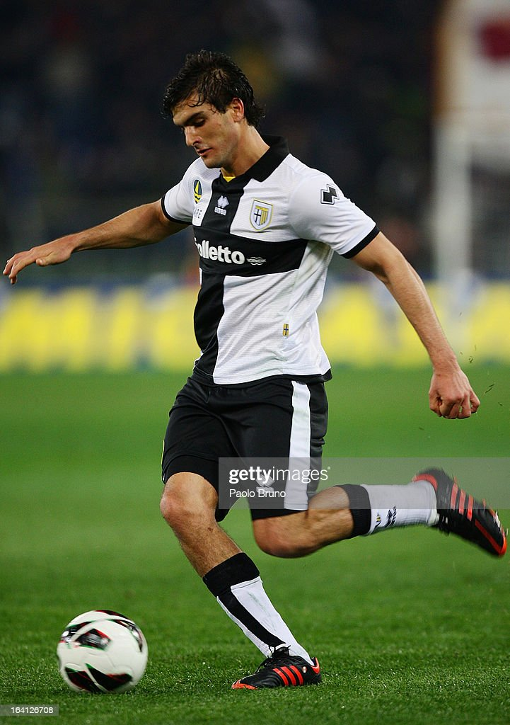 Alvaro Ampuero of Parma FC in action during the Serie A match between AS Roma and Parma FC at Stadio Olimpico on March 17, 2013 in Rome, Italy.