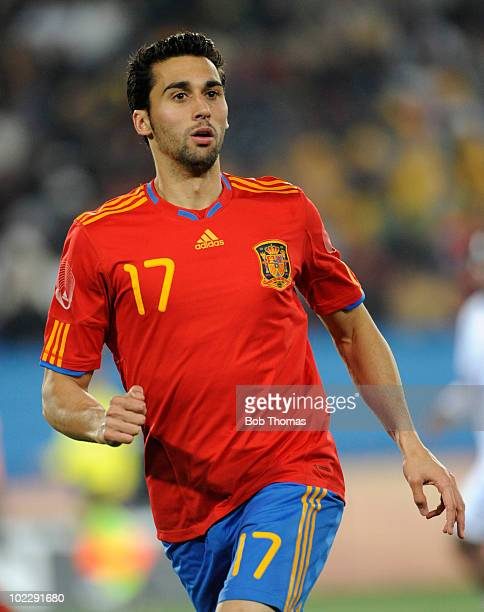 Alvaro Arbeloa of Spain during the 2010 FIFA World Cup South Africa Group H match between Spain and Honduras at Ellis Park Stadium on June 21 2010 in...