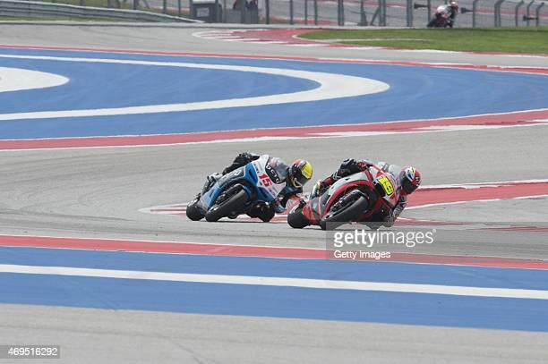 Alvaro Bautista of Spain and Factory Aprilia Gresini leads the field during the MotoGP race during the MotoGp Red Bull US Grand Prix of The Americas...