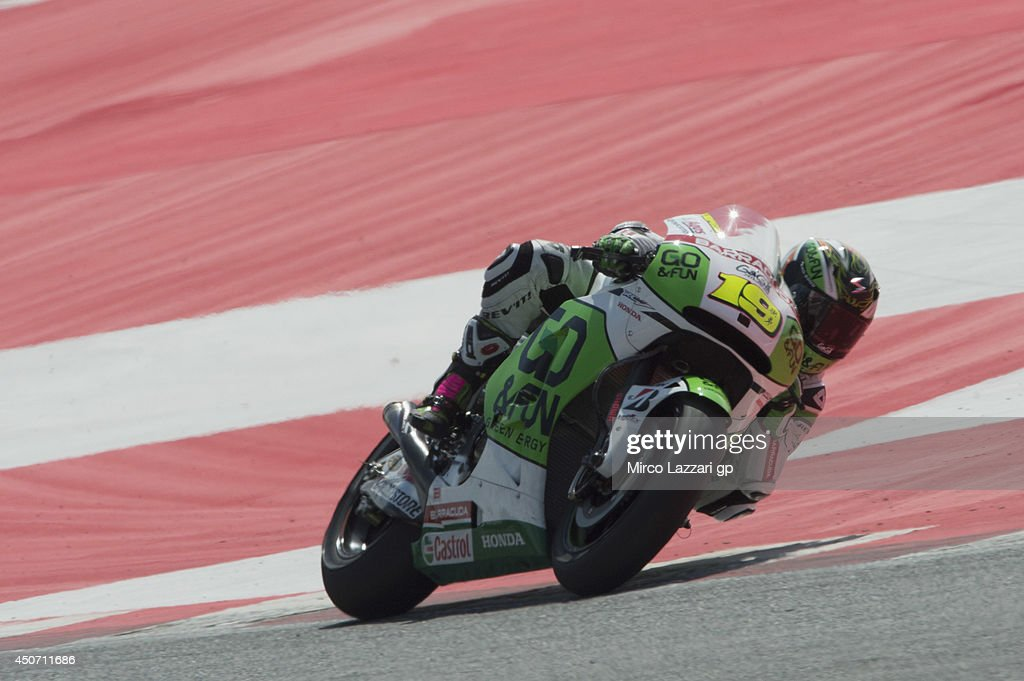 Alvaro Bautista of Spain and Go&Fun Honda Gresini rounds the bend during the MotoGp Tests In Montmelo at Circuit de Catalunya on June 16, 2014 in Montmelo, Spain.