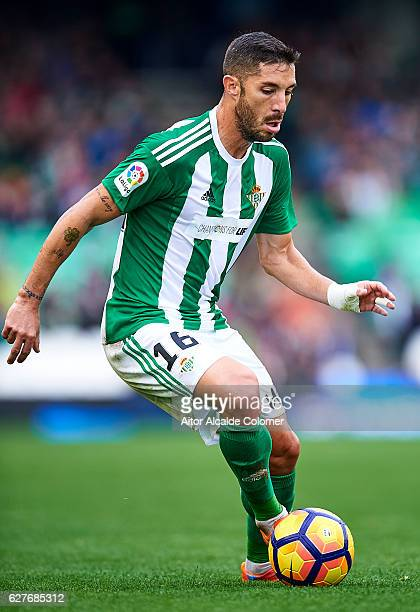 Alvaro Cejudo of Real Betis Balompie in action during La Liga match between Real Betis Balompie an RC Celta de Vigo at Benito Villamarin Stadium on...