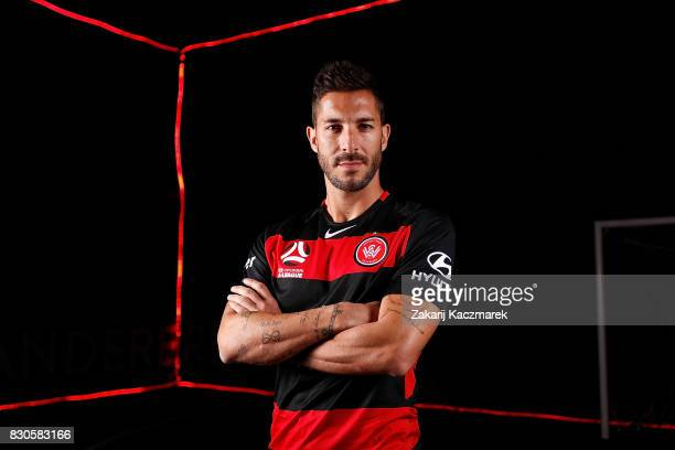 Alvaro Cejudo poses during the Western Sydney Wanderers 2017/18 ALeague Season kit launch on August 11 2017 in Sydney Australia