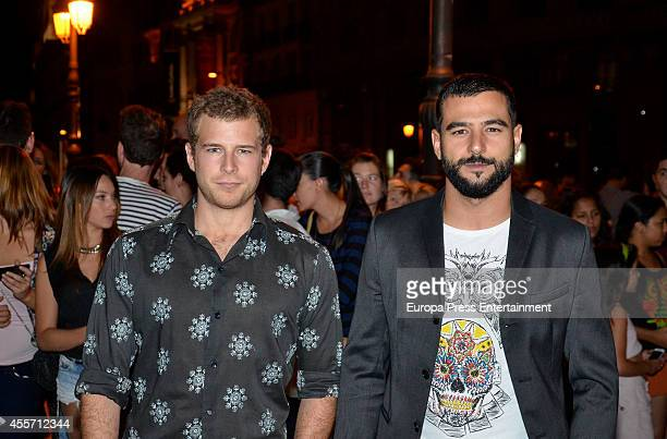 Alvaro Cervantes and Antonio Velazquez attend FIBA Private Party on September 14 2014 in Madrid Spain