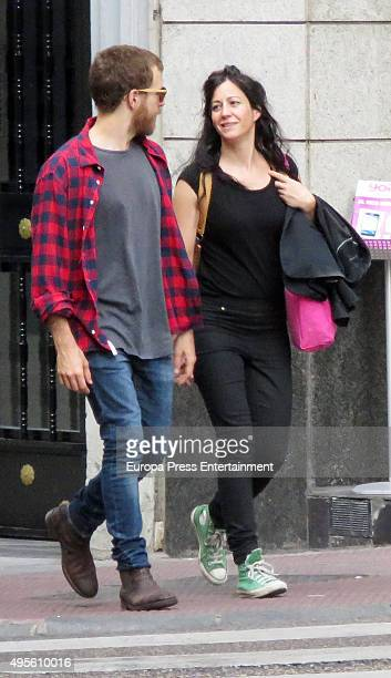 Alvaro Cervantes and his girlfriend are seen on September 29 2015 in Madrid Spain