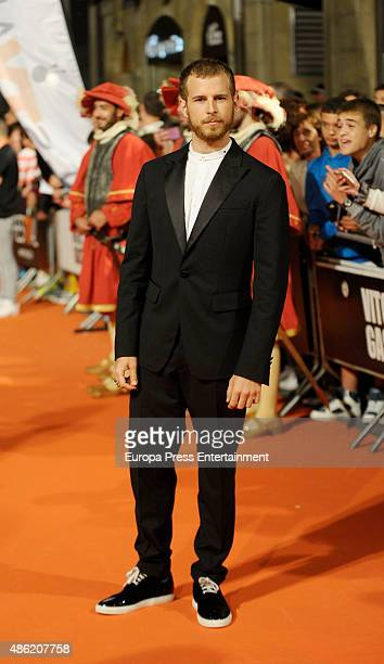 Alvaro Cervantes attends 'Carlos Rey Emperador' premiere during FesTVal 2015 on September 1 2015 in VitoriaGasteiz Spain