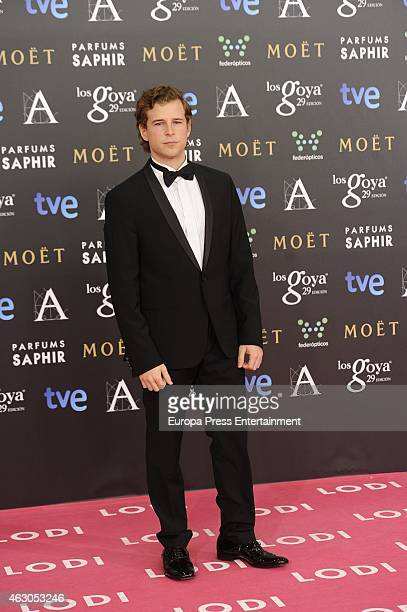 Alvaro Cervantes attends Goya Cinema Awards 2015 at Centro de Congresos Principe Felipe on February 7 2015 in Madrid Spain