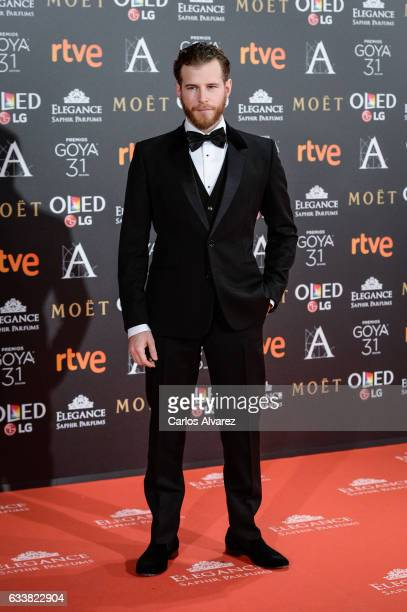 Alvaro Cervantes attends Goya Cinema Awards 2017 at Madrid Marriott Auditorium on February 4 2017 in Madrid Spain