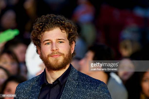 Alvaro Cervantes attends the 17th Malaga Film Festival 2014 closing ceremony at the Cervantes Theater on March 29 2014 in Malaga Spain