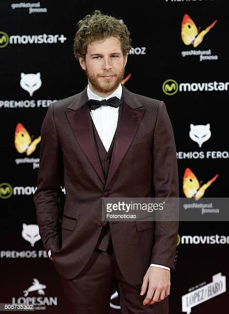 Alvaro Cervantes attends the 2016 Feroz Cinema Awards at the Gran Teatro Principe Pio on January 19 2016 in Madrid Spain