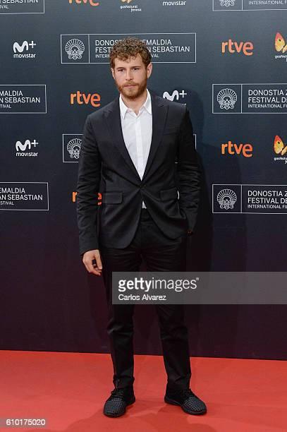 Alvaro Cervantes attends the red carpet of the closing gala of 64th San Sebastian Film Festival at Kursaal on September 24 2016 in San Sebastian Spain
