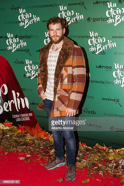 Alvaro Cervantes attends 'Un Otono Sin Berlin' Madrid premiere at Cines Verdi on November 10 2015 in Madrid Spain