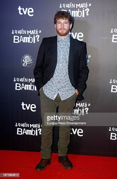 Alvaro Cervantes poses during the photocall of 'Quien Mato a Bambi' premiere at Comedia Cinema on November 7 2013 in Barcelona Spain