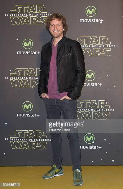 Alvaro de la Lama attends 'Star Wars The Force Awakens' at Callao cinema on December 16 2015 in Madrid Spain