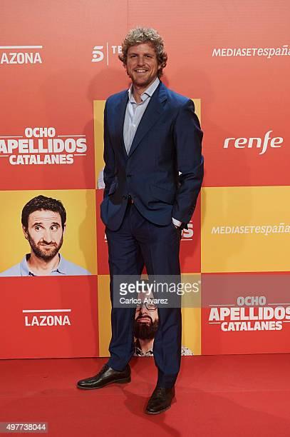 Alvaro de la Lama attends the 'Ocho Apellidos Catalanes' premiere at the Capitol cinema on November 18 2015 in Madrid Spain