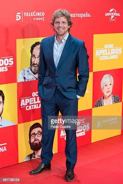 Alvaro de la Lama attends the 'Ocho Apellidos Catalantes' Premiere at capitol Cinema on November 18 2015 in Madrid Spain