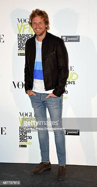 Alvaro de la Lama attends Vogue Fashion Night Out Madrid 2015 photocall on September 10 2015 in Madrid Spain