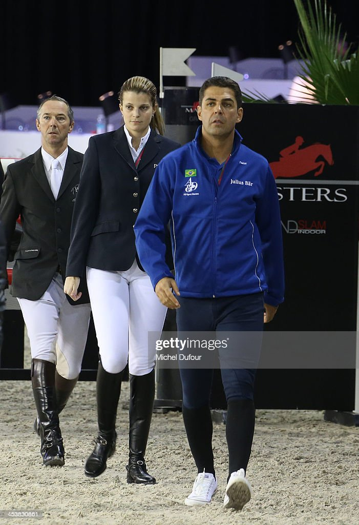 Alvaro de Miranda and Athina Onassis Miranda attend the Gucci Paris Masters 2013 - Day 1 at Paris Nord Villepinte on December 5, 2013 in Paris, France.