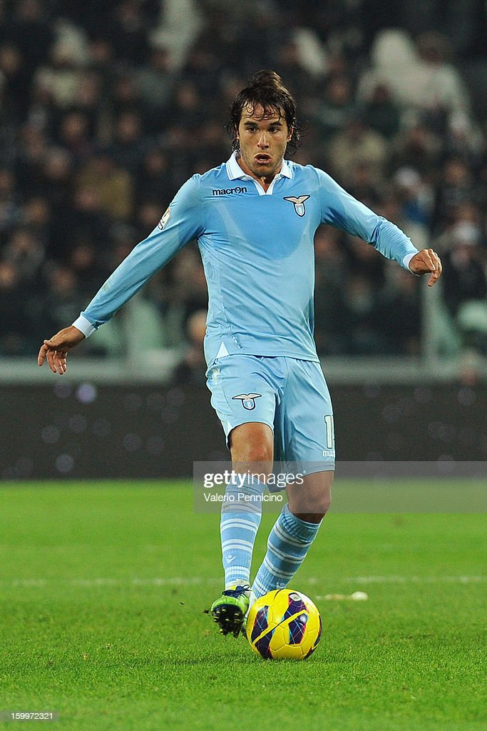 Alvaro Gonzalez of S.S. Lazio in action during the TIM cup match between Juventus FC and S.S. Lazio at Juventus Arena on January 22, 2013 in Turin, Italy.