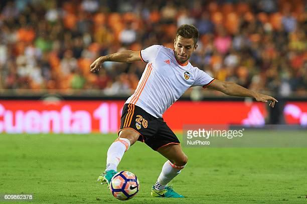 Alvaro Medran of Valencia CF during the La Liga match between Valencia CF vs Deportivo Alaves at Mestalla Stadium on September 22 2016 in Valencia...