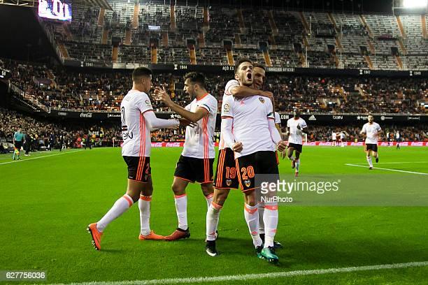 20 Alvaro Medran of Valencia CF during the Spanish La Liga Santander soccer match between Valencia CF vs Malaga CF at Mestalla Stadium on December 4...
