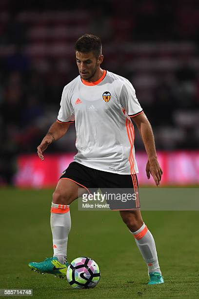 Alvaro Medran of Valencia in action during a preseason friendly between Bournemouth and Valencia at the Vitality Stadium on August 3 2016 in...