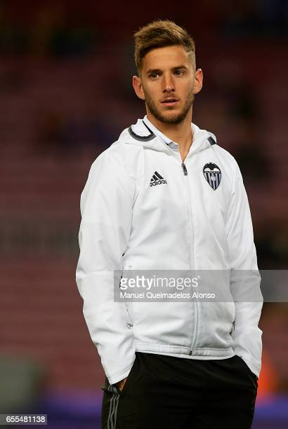 Alvaro Medran of Valencia looks on prior to the La Liga match between FC Barcelona and Valencia CF at Camp Nou Stadium on March 19 2017 in Barcelona...