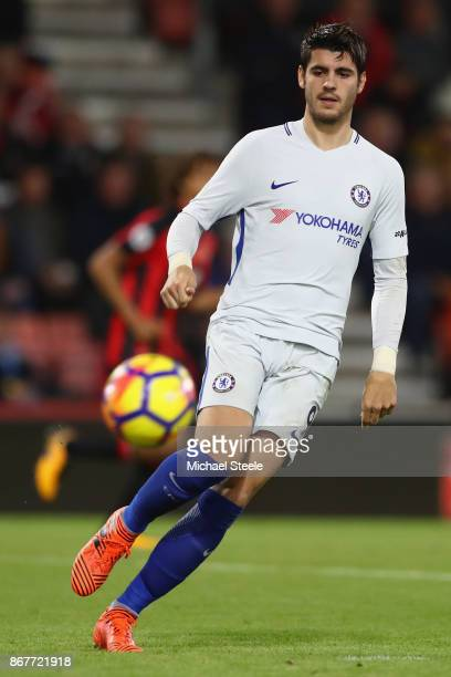 Alvaro Morata of Chelsea during the Premier League match between AFC Bournemouth and Chelsea at Vitality Stadium on October 28 2017 in Bournemouth...