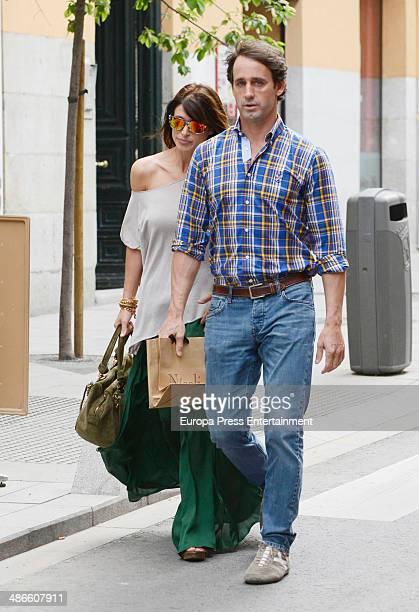 Alvaro Munoz Escassi and Sonia Ferrer are seen on April 24 2014 in Madrid Spain