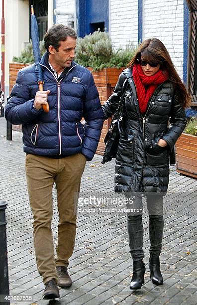 Alvaro Munoz Escassi and Sonia Ferrer are seen on December 19 2013 in Madrid Spain