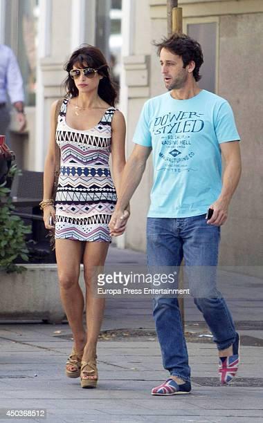 Alvaro Munoz Escassi and Sonia Ferrer are seen on June 9 2014 in Madrid Spain